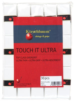 Kirschbaum Touch It Ultra Overgrip Reels (x30) White