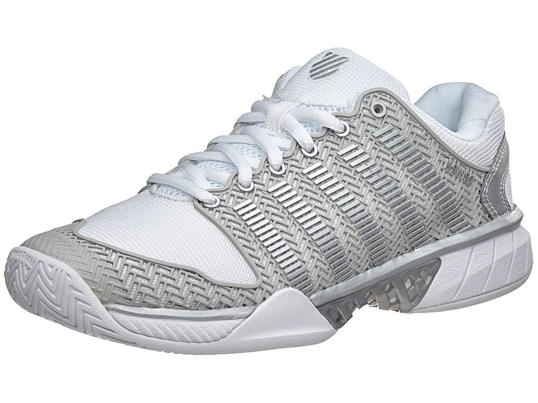 Kswiss Hypercourt Express White Silver Women S Shoes