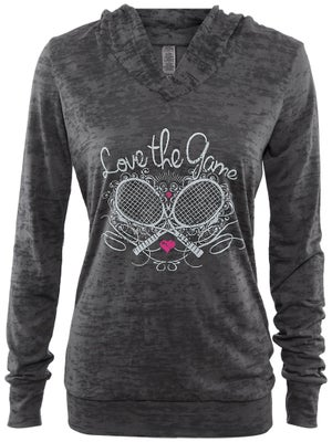 LoveAll Women's Crossed Racquets Hoodie