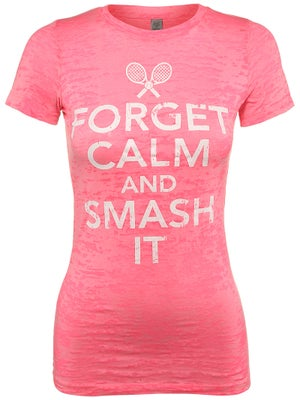 LoveAll Women's Forget Calm And Smash It Tee