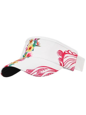 Lucky In Love Flower Lace Visor