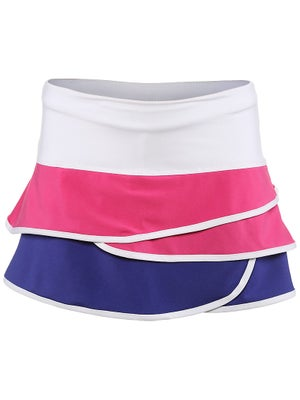 Lucky In Love Girl's Color Block Scallop Skort