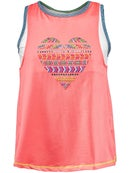 Lucky in Love Girl's Friendship Layered Mesh Tank