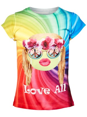 Lucky In Love Girl's Hippie Ball Tee