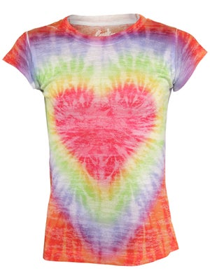 Lucky In Love Girl's Heart Tie Dye Tee