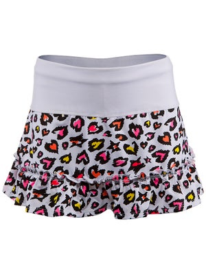 Lucky In Love Girl's Leopard Ruffle Skort