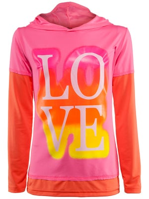 Lucky In Love Girl's Love Sleeve Hoodie