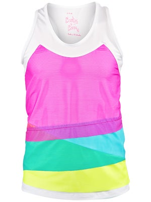 Lucky In Love Girl's Mesh Layer Tank