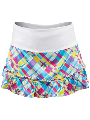 Lucky In Love Girl's Plaid Ruffle Skort