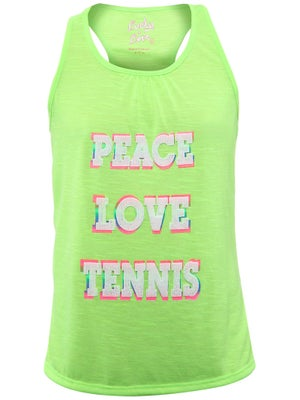 Lucky In Love Girl's 9 Peace Love Tennis Tank