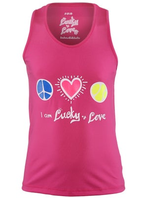 Lucky In Love Girls Peace Love Tennis Tank