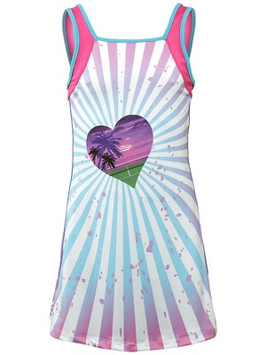Lucky In Love Girl's Tropical Tennis Dress