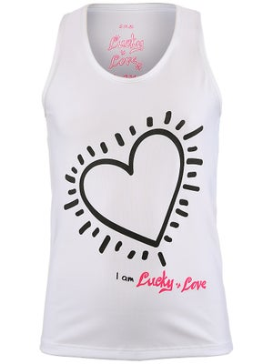 Lucky In Love Girls Heart Tank