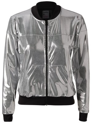 82b190e17d5c Product image of Lucky in Love Women s Metallic Bomber Jacket