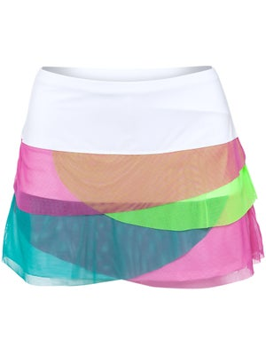 Lucky in Love Women's Brazil Mesh Scallop Skort