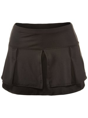 Lucky In Love Women's Core Pleat Layer Skort - Black