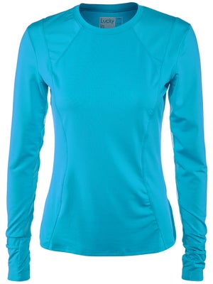 Lucky In Love Women's Core Long Sleeve Top - Ocean