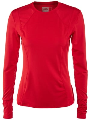 Lucky In Love Women's Core Long Sleeve Top - Red