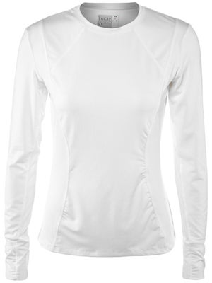 Lucky In Love Women's Core Long Sleeve Top - White