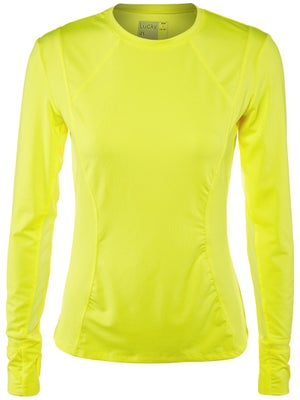 Lucky In Love Women's Core Long Sleeve Top - Yellow