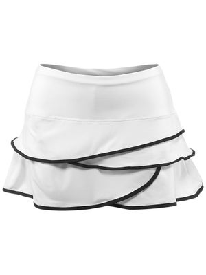 Lucky in Love Women's Scallop Border Skort Wh/Blk