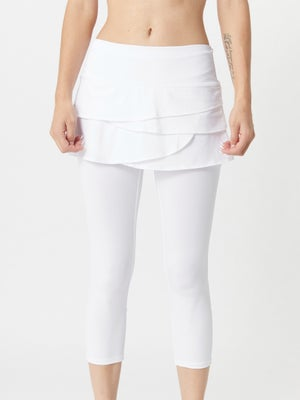 Lucky in Love Women's Skort Capri White