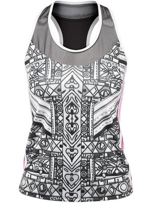 Lucky in Love Women's Tribal Graphic Tank