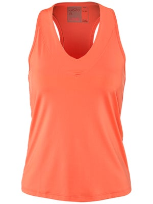 Lucky in Love Women's Core V-Neck Tank - Orange