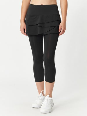 Lucky in Love Women's Skort Capri Black
