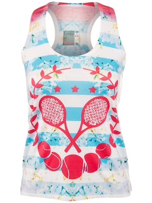 Lucky In Love Women's Tennis Stripe Tank