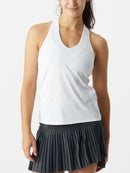 Lucky in Love Womens Core V-Neck Tank White