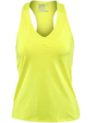 Lucky In Love Women's Core V-Neck Tank - Yellow