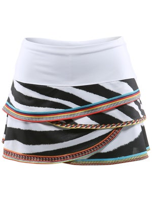 Lucky In Love Women's Zebra Bead Skort
