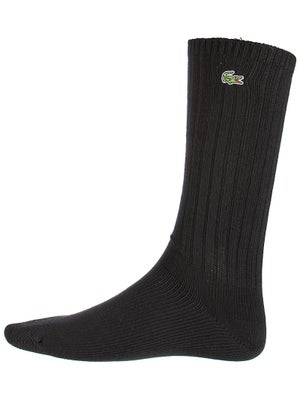 Lacoste Men's Crew Socks Black Size 6