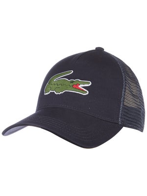 Lacoste Men's Fall Large Croc Trucker Hat Navy