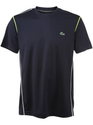 Lacoste Men's Spring Textured Trim Crew