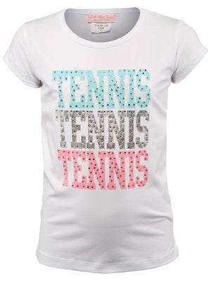 Little Miss Tennis Girl's Love Tee