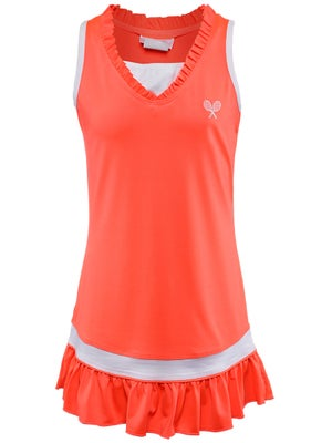 Little Miss Tennis Girl's Neon Dress