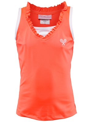 Little Miss Tennis Girl's Neon Tank