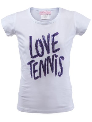 Little Miss Tennis Girl's Popular Tee