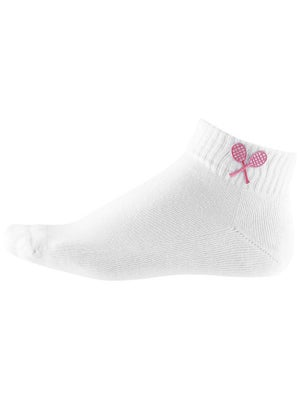 Little Miss Tennis Girl's Socks White/Pink