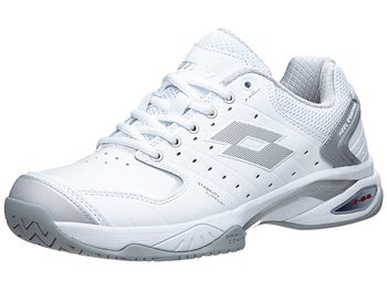 5cc59b488304f8 Product image of Lotto Raptor Leather Speed White Silver Women s Shoes