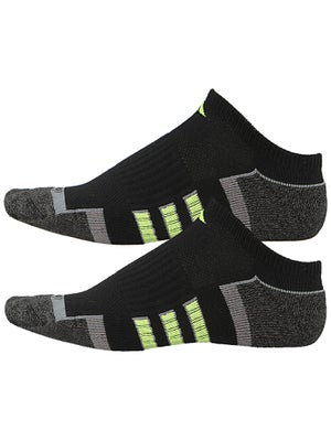 adidas Men's ClimaLite II 2-Pack No Show Socks Bk/Gn