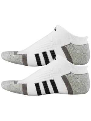 adidas Men's ClimaLite II 2-Pack No Show Socks Wh/Bk
