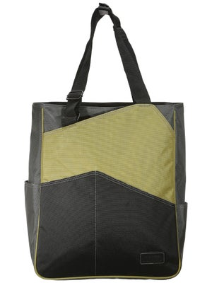 Maggie Mather Three Tone Tote Bag Lime-Pewter-Black