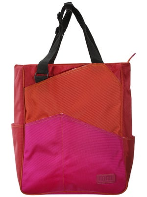 Maggie Mather Three Tone Tote Bag Orange-Red-Fuchsia