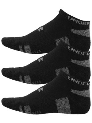 Under Armour Heatgear 3-Pack No Show Sock Black