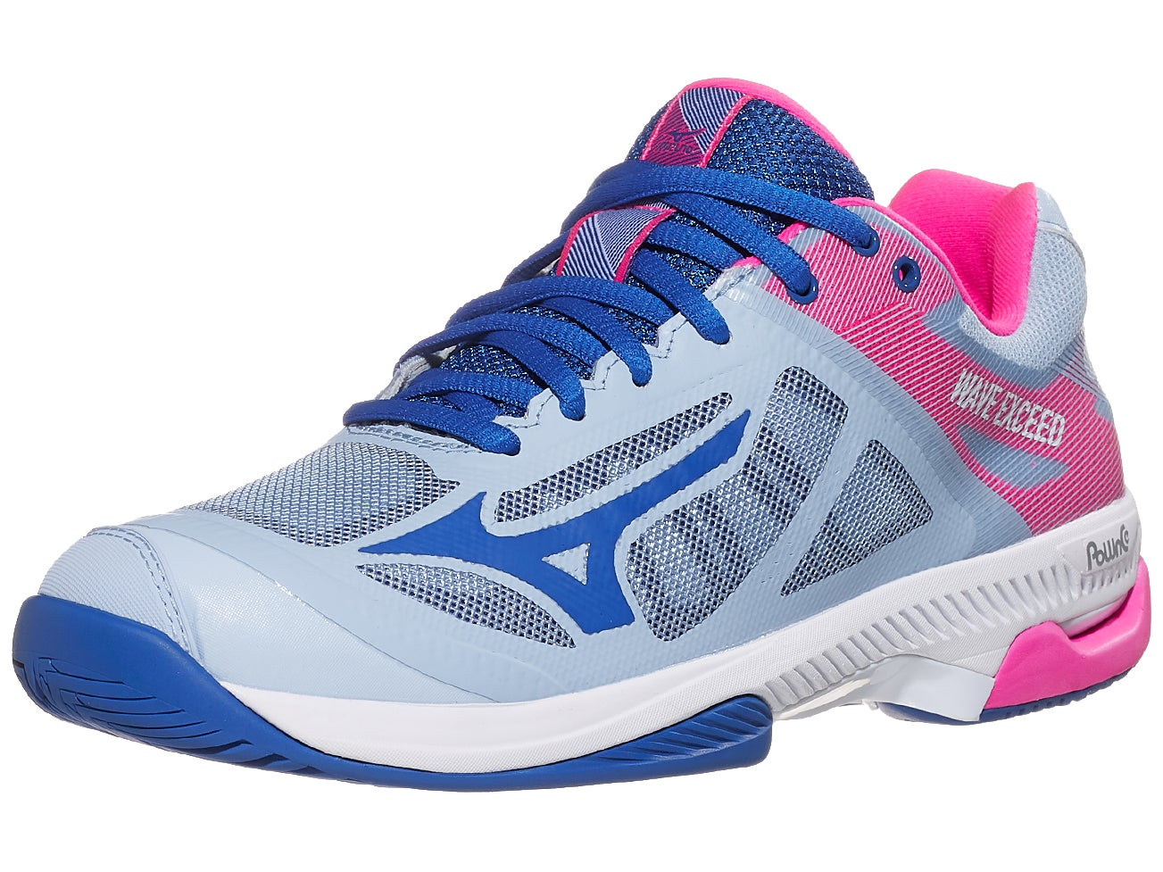 Mizuno Womens Wave Exceed 2 Clay Court Tennis Shoes Blue Pink White Sports