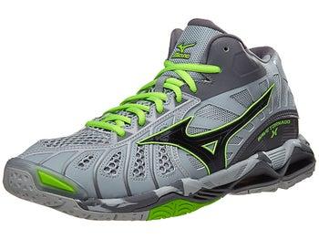 Couleurs variées 8ae3c a4822 Mizuno Wave Tornado X Mid Men's Shoes - Grey/Gecko