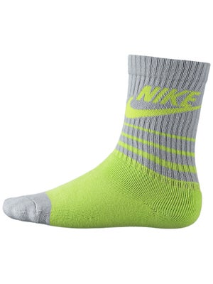 Nike Classic Striped Crew Sock Venom Green/Grey